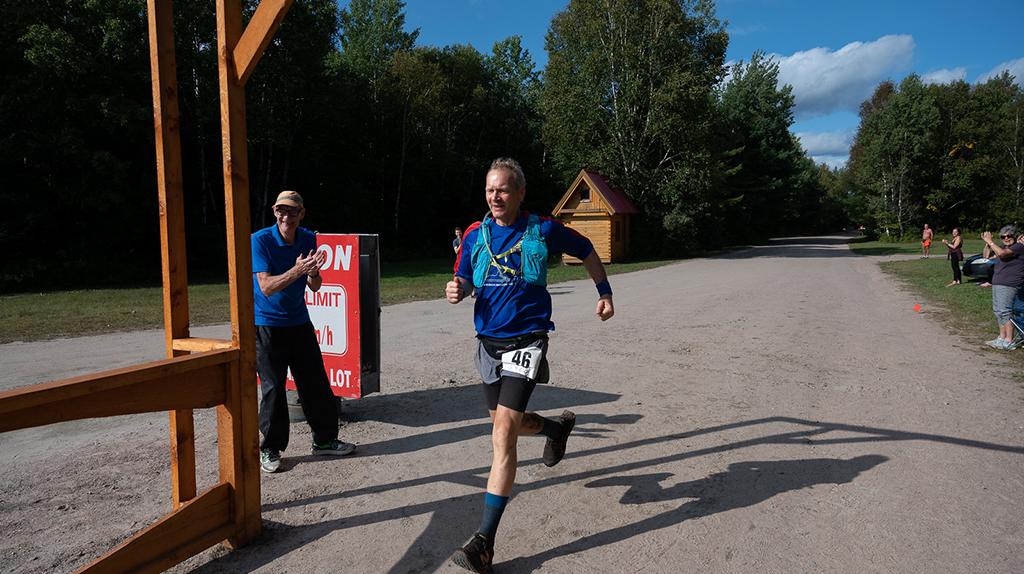 Greg Haliburton Forest Run 2021 100 miles sprint to finish